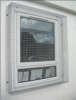 Mesh grilles from brown security installations for Mesh for windows and doors